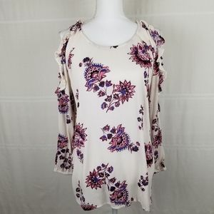 Old Navy Boho flowered cold shoulder tunic size L